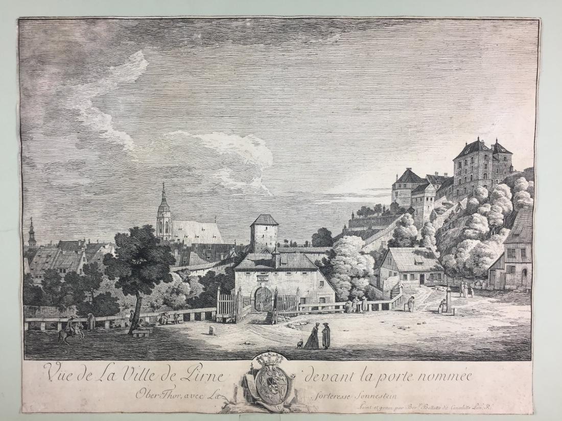 BELLOTTO. Vista della città di Pirna...