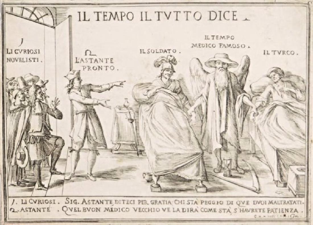 Popular print. Giuseppe Maria Mitelli Il Tempo il tutt