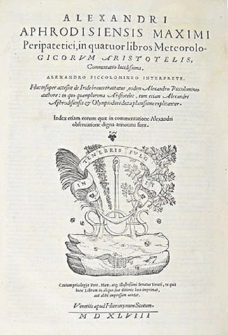 Astronomy and Physics. APHRODISIENSIS. Alexandri