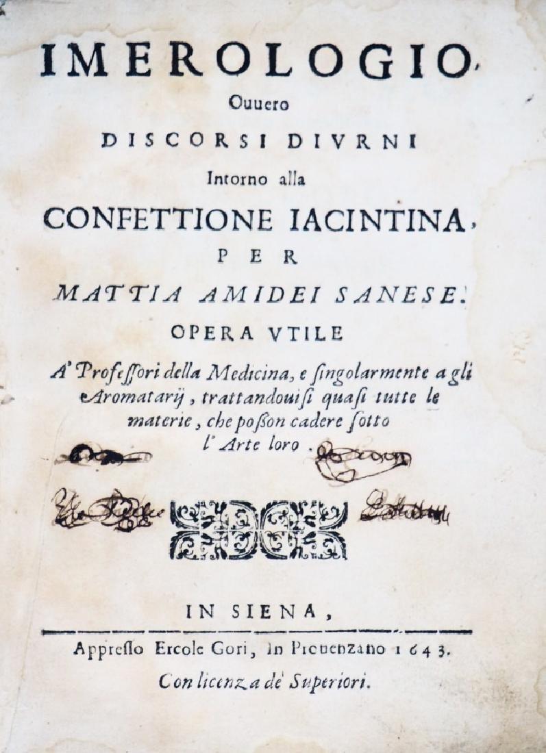 Alchemy and Mineralogy. AMIDEI. Imerologio, ovvero