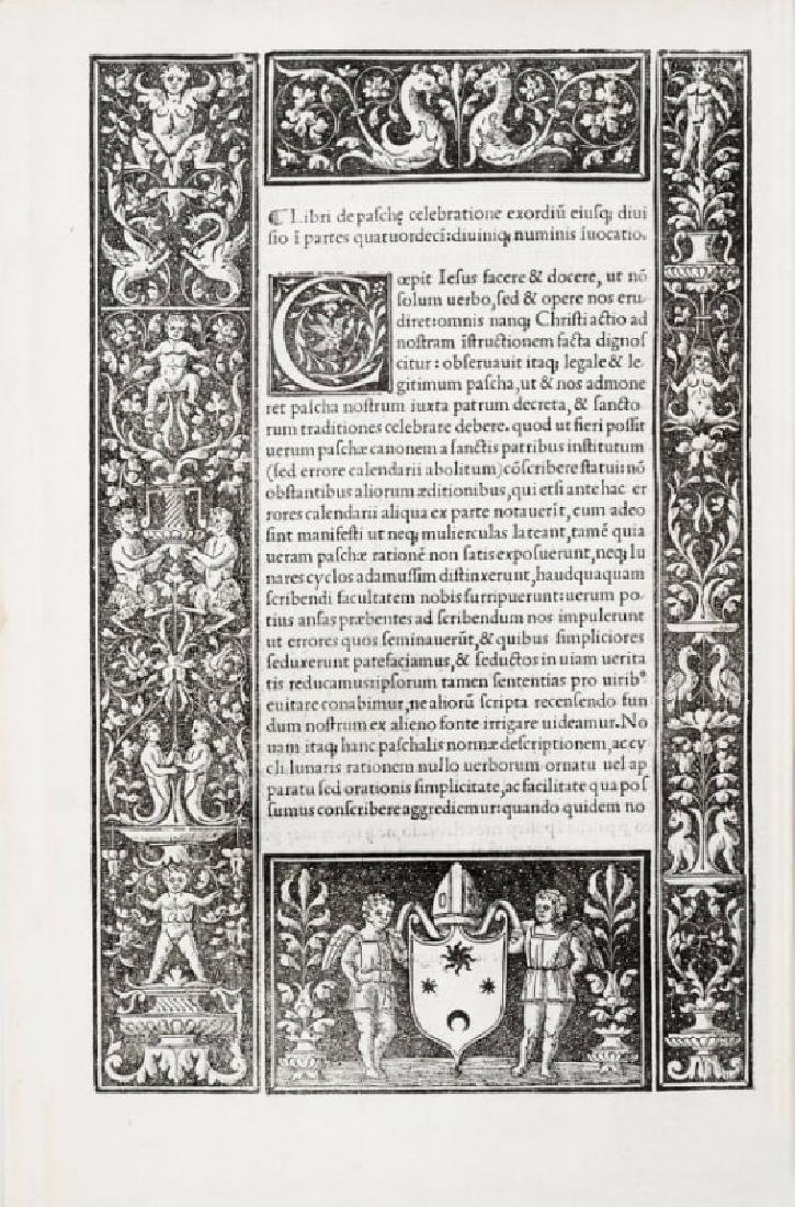 First Book Printed in Fossombrone. PAULUS...