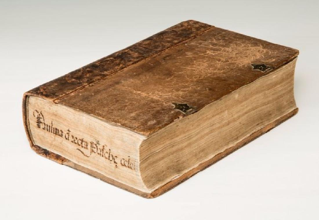 First Book Printed in Fossombrone. PAULUS... - 2