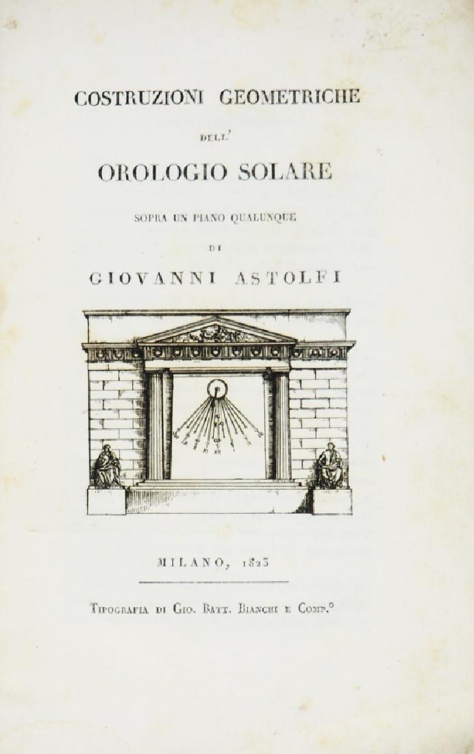 Sundials. ASTOLFI. Costruzioni geometriche...