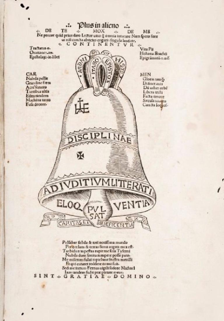 Incunabulum. History of the Renaissance. CAMPANUS.