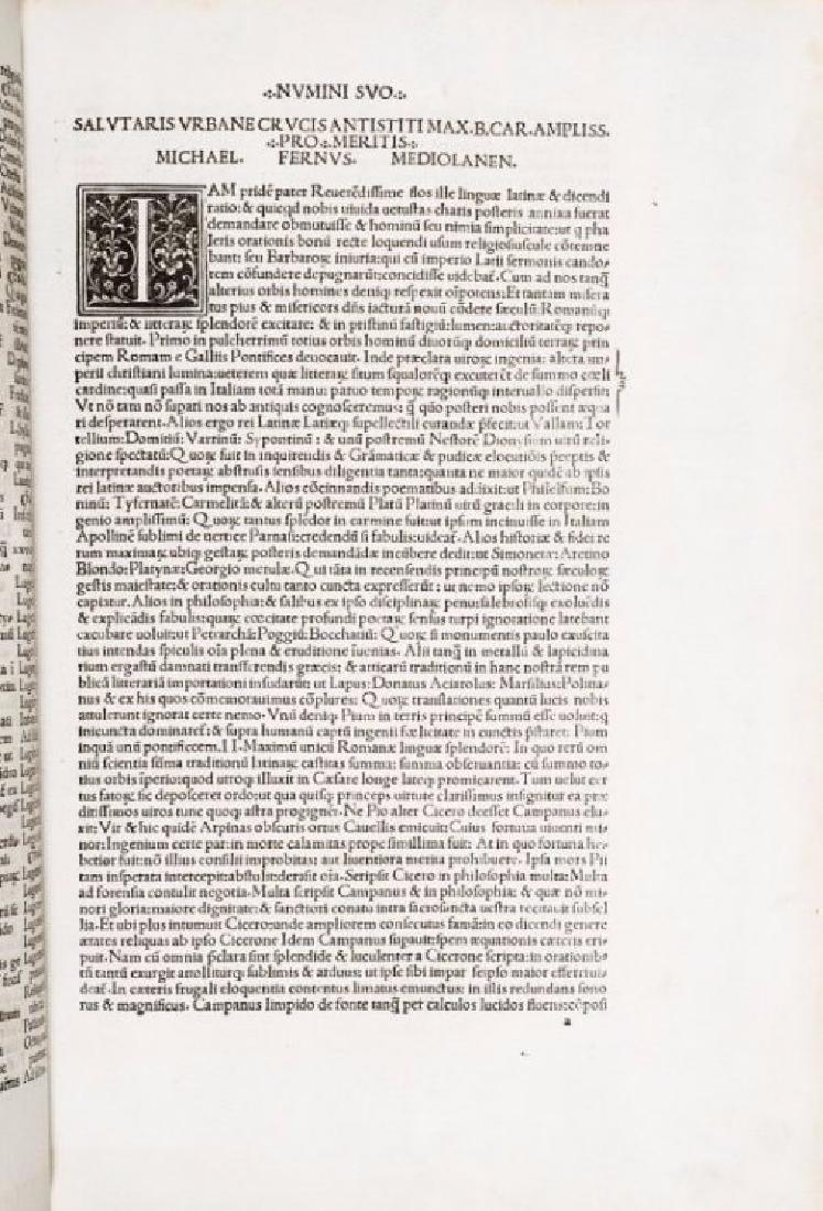 Incunabulum. History of the Renaissance. CAMPANUS. - 2