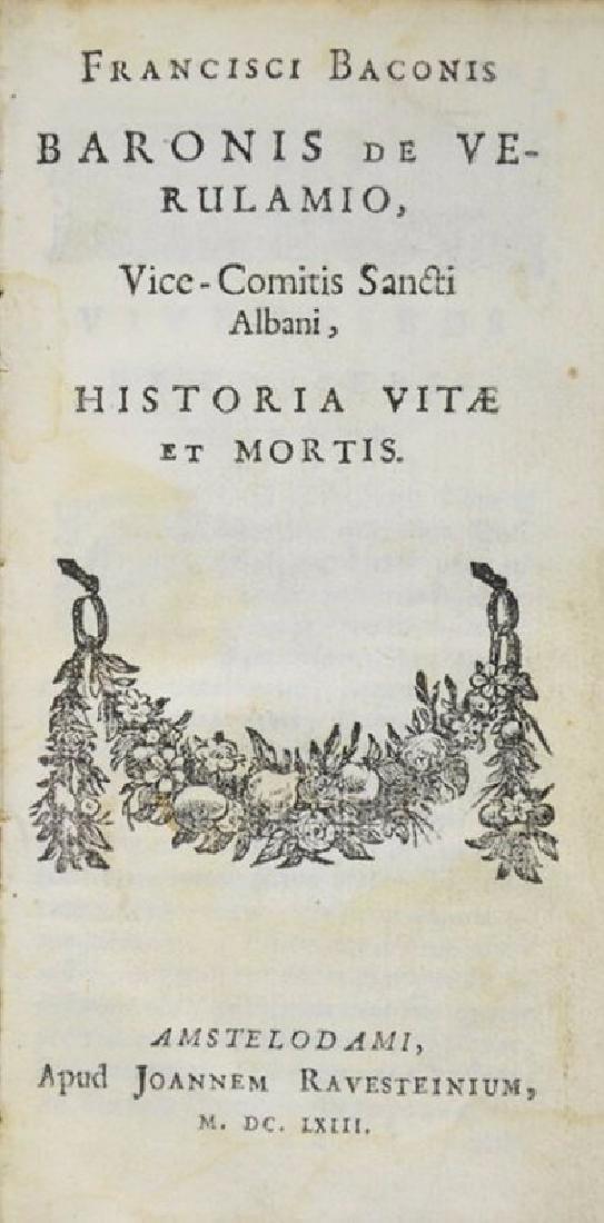 Art of Longevity. BACON. Historia Vitae et Mortis.