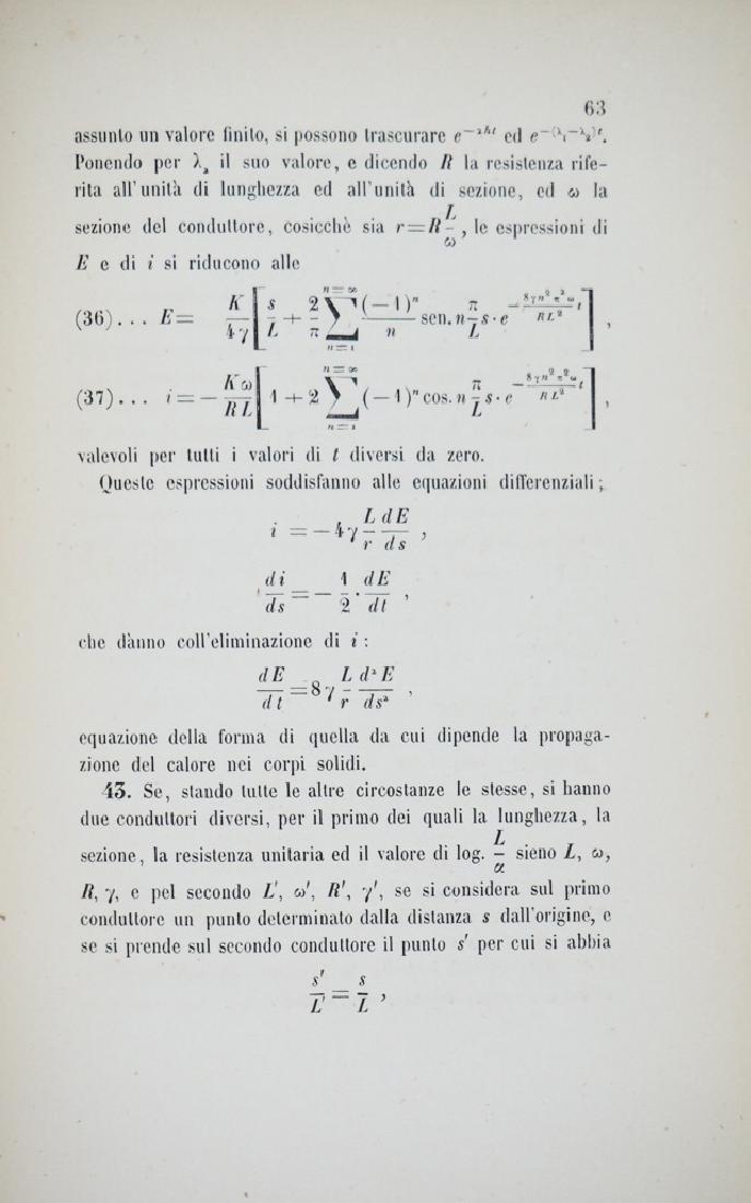 Electricity. FERRARIS. Sulla teoria matematica della - 2