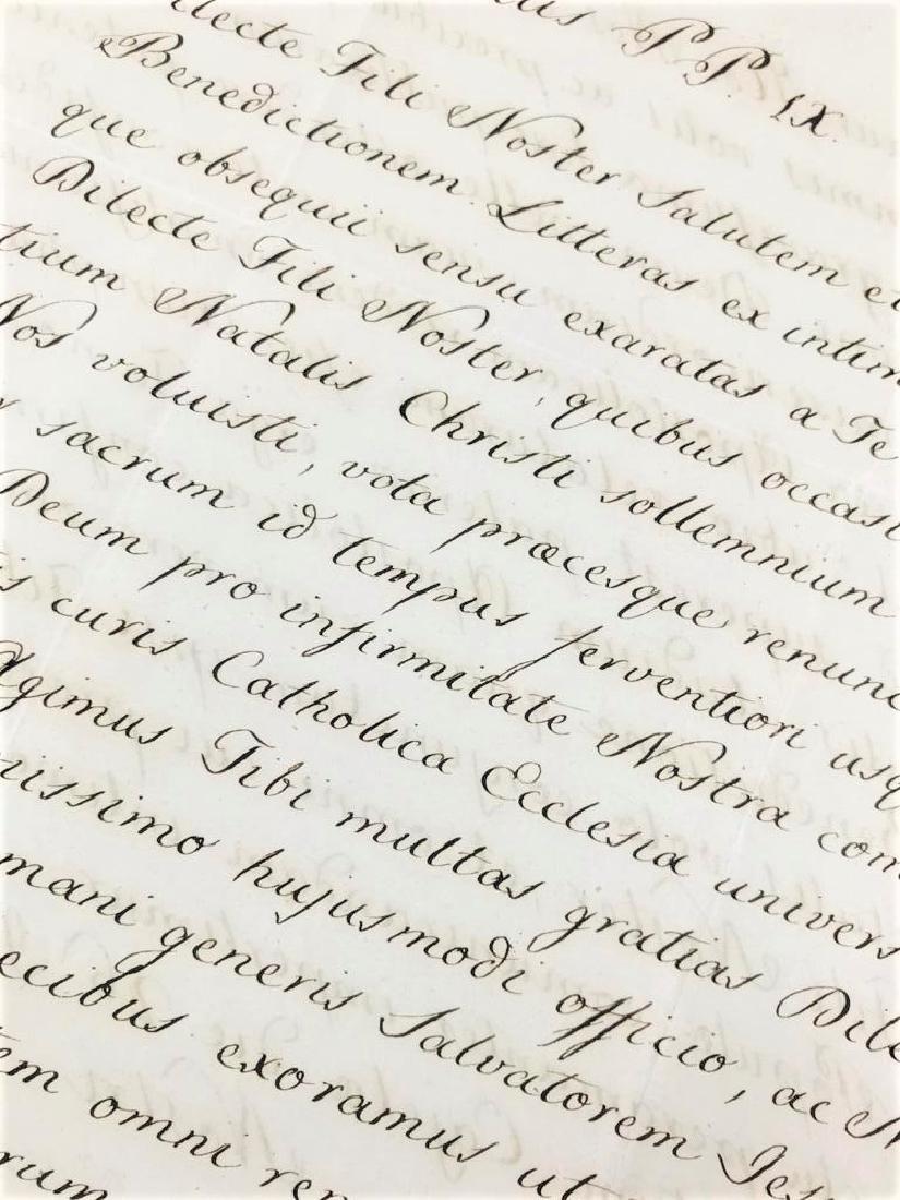 Autograph. Papa Pio IX. Lettera.
