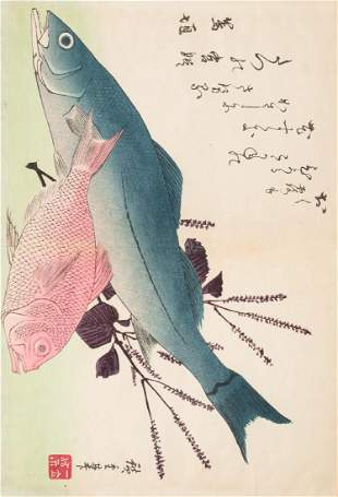 Utagawa Ando HIROSHIGE Japan Watercolors. HIROSHIGE.