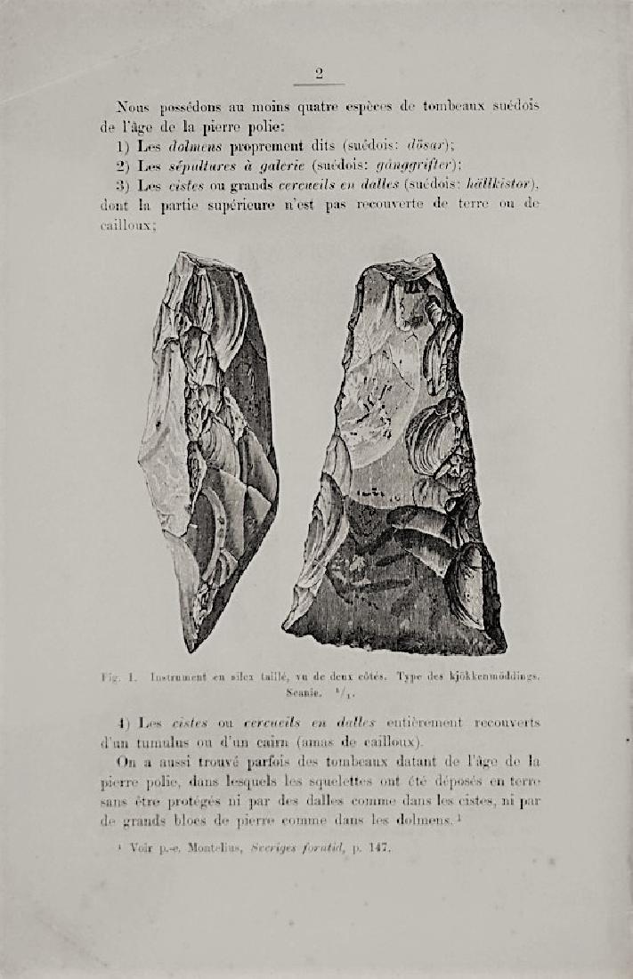 Archeology. MONTELIUS. Sur les tombeaux...