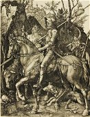 Albrecht DURER. The Knight, the Death and the Devil.