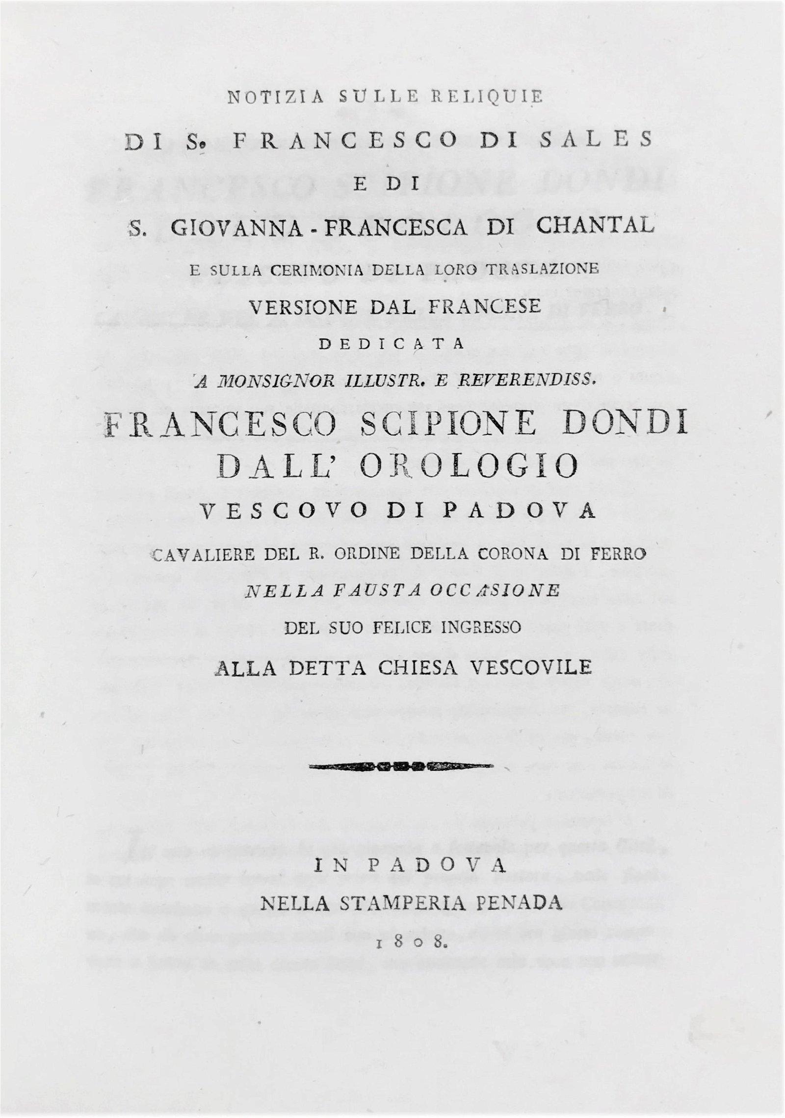 Festival Book. SCARDOVA. Notizia sulle reliquie di S.
