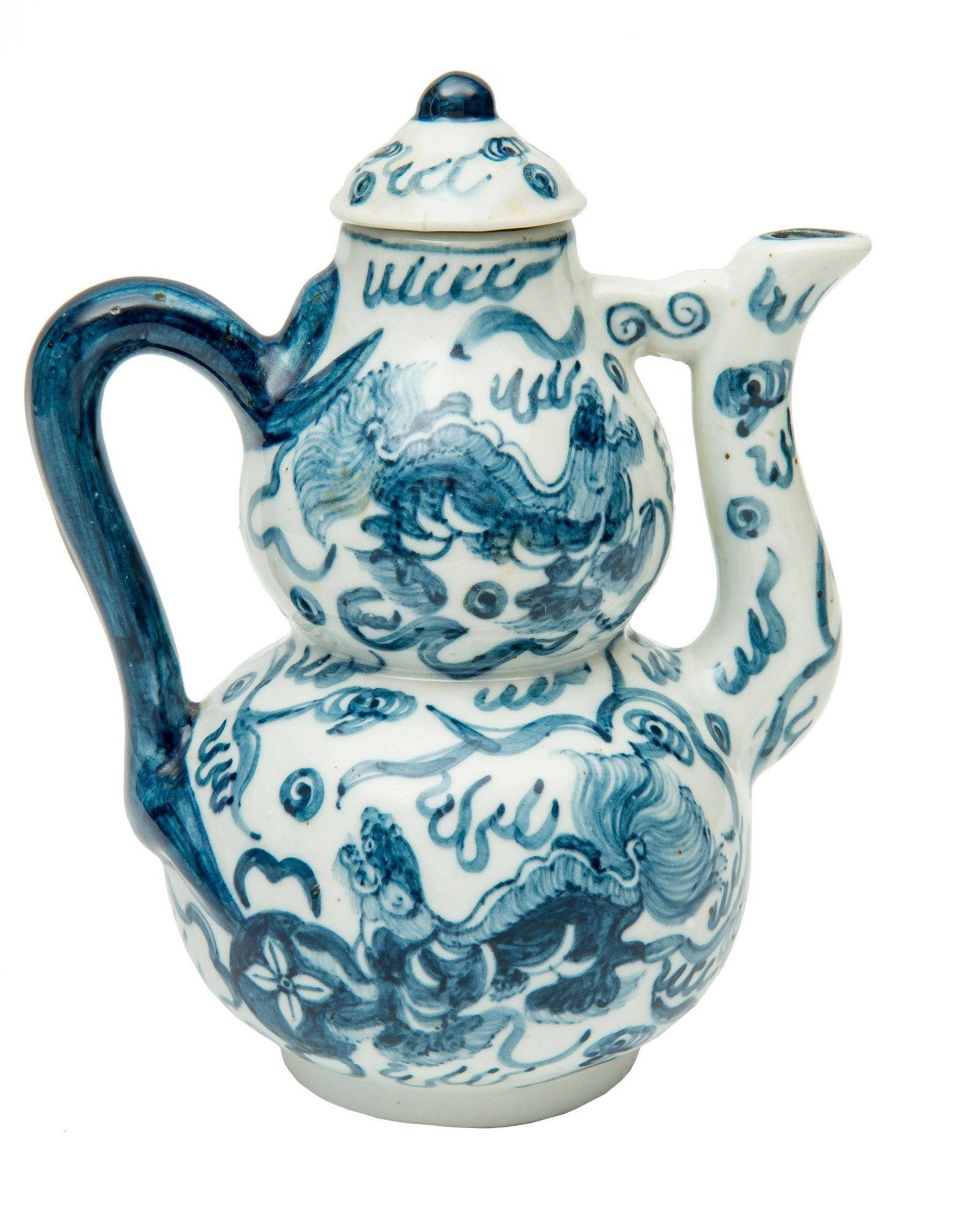 A Chinese Blue and White Porcelain Coffee pot.