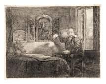 REMBRANDT. Clement de Jonghe, mercante di stampe.