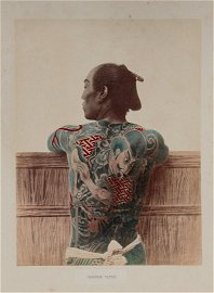 KUSAKABE. Album con 50 fotografie in albumina colorate