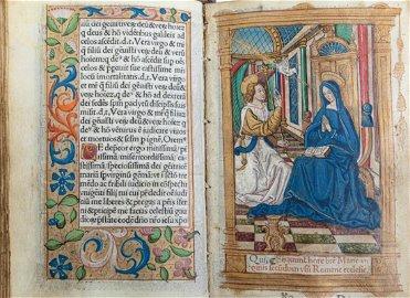 Book of Hours on vellum. Horae B. Mariae Virginis.