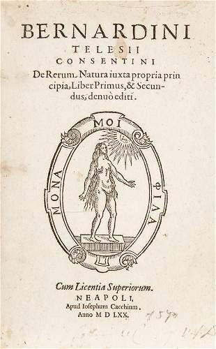 TELESIO, Bernardino. De Rerum Natura iuxta propria