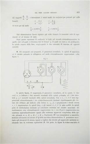 Physics. FERRARIS. Gruppo di 4 dissertazioni estratte