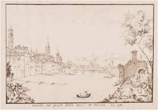 ZILOTTI. Veduta del ponte delle Navi di Verona.