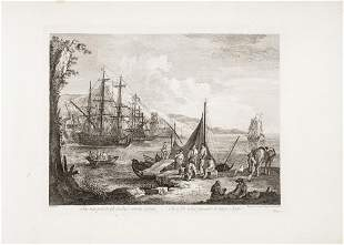 Engravings of landscapes of the XVIII century.