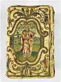 Embroidered Binding. English Bible. 1628.