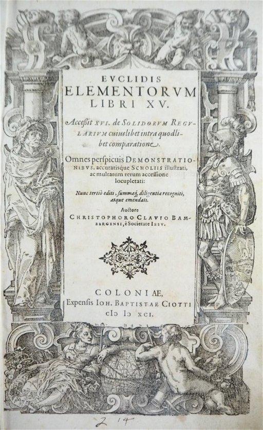 EUCLIDES  Euclidis Elementorum Lib  XV  Accessit XVI