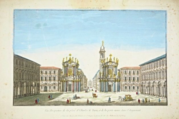 [Turin] Optic View of San Carlo's Square