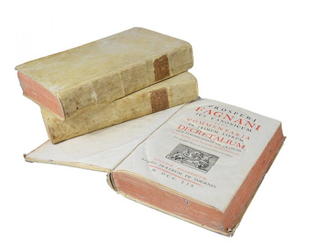 [CANON LAW] FAGNANUS. Jus Canonicum, sive Commentaria