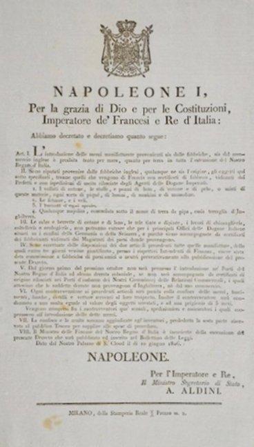 [trade embargo against the British] 1806