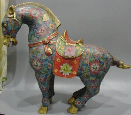 Cloisonne cloisonne enamel gilt bronze horse