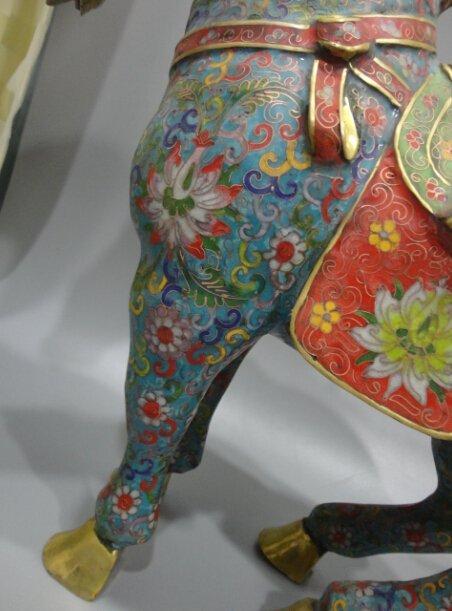 Cloisonne cloisonne enamel gilt bronze horse - 3