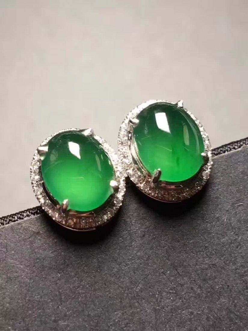 Sun green emerald jade ring - 2