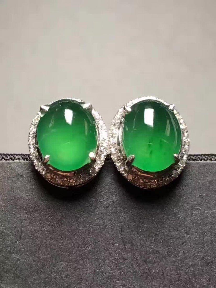 Sun green emerald jade ring - 3