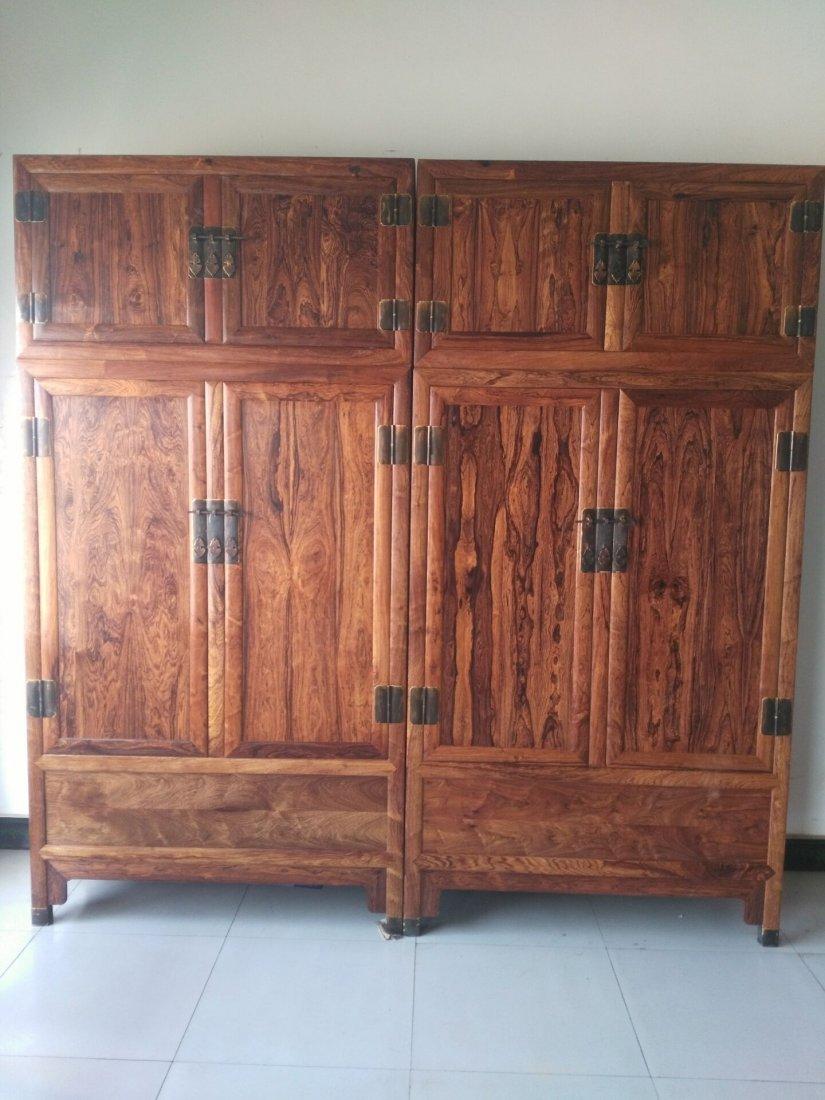 Hainan huanghuali  cabinet Mountain pattern, tiger skin