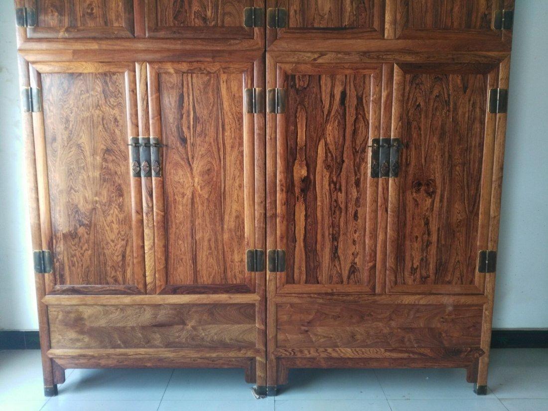 Hainan huanghuali  cabinet Mountain pattern, tiger skin - 2