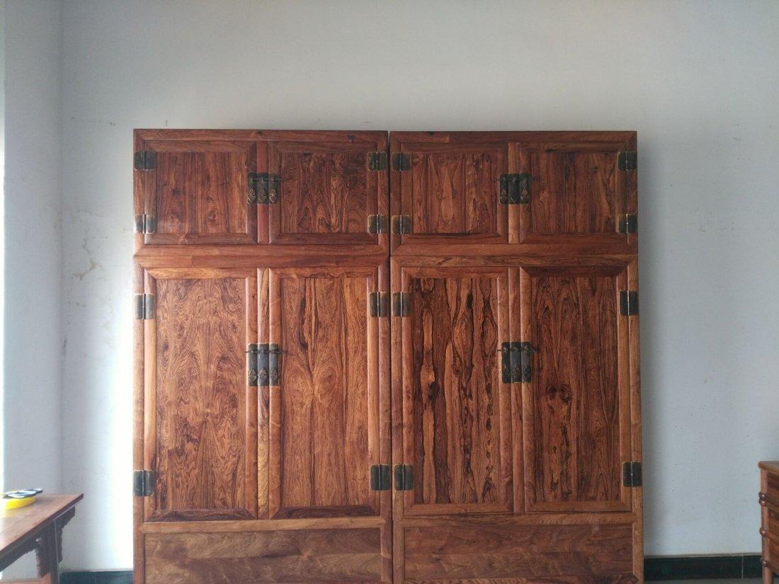 Hainan huanghuali  cabinet Mountain pattern, tiger skin - 3