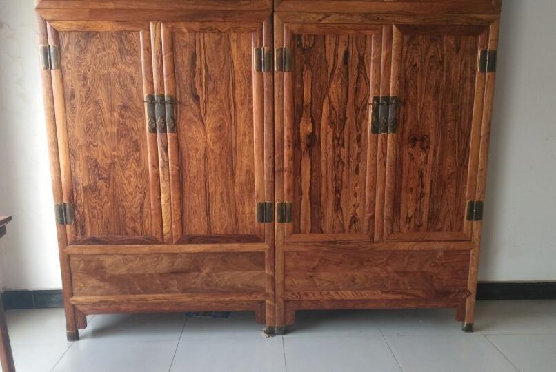 Hainan huanghuali  cabinet Mountain pattern, tiger skin - 4