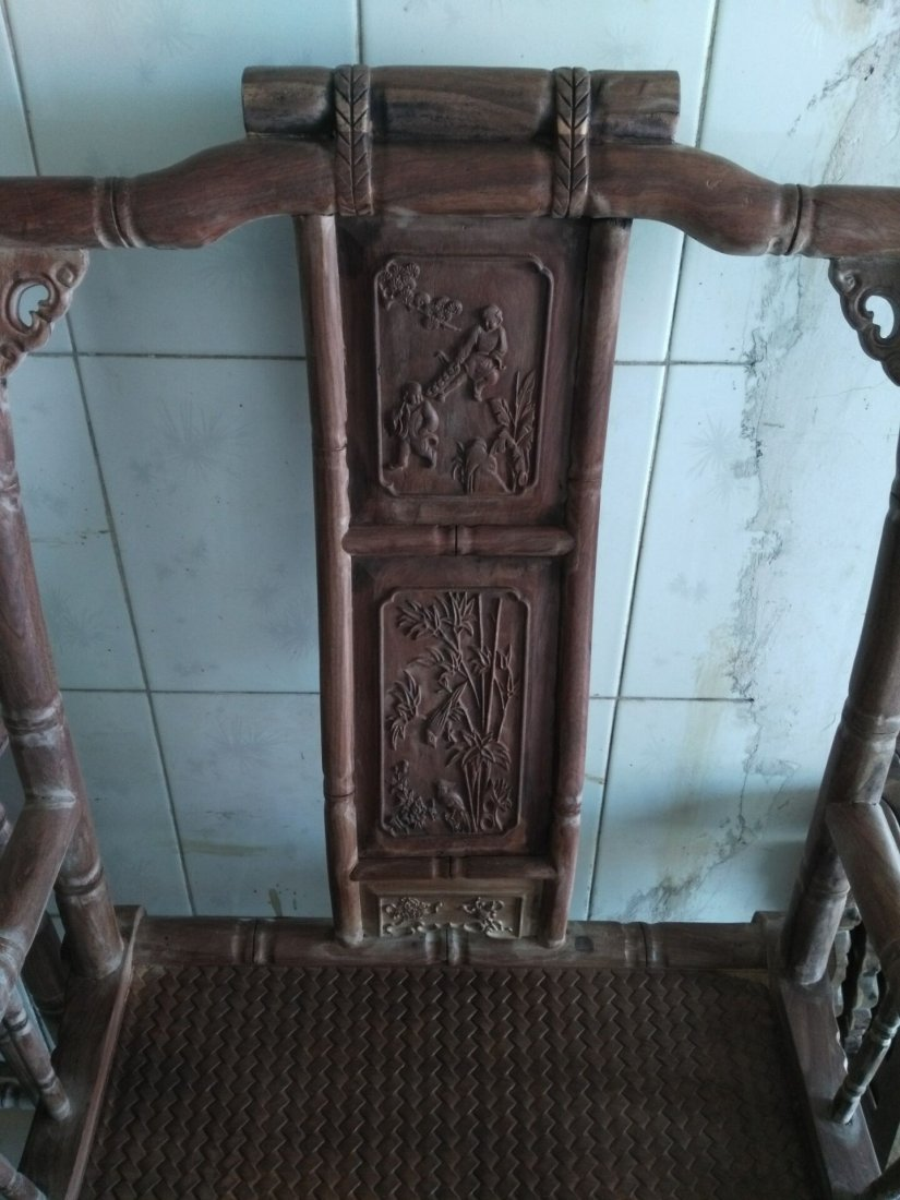 huanghuali Superb carving Bamboo festival Taishi chair - 4