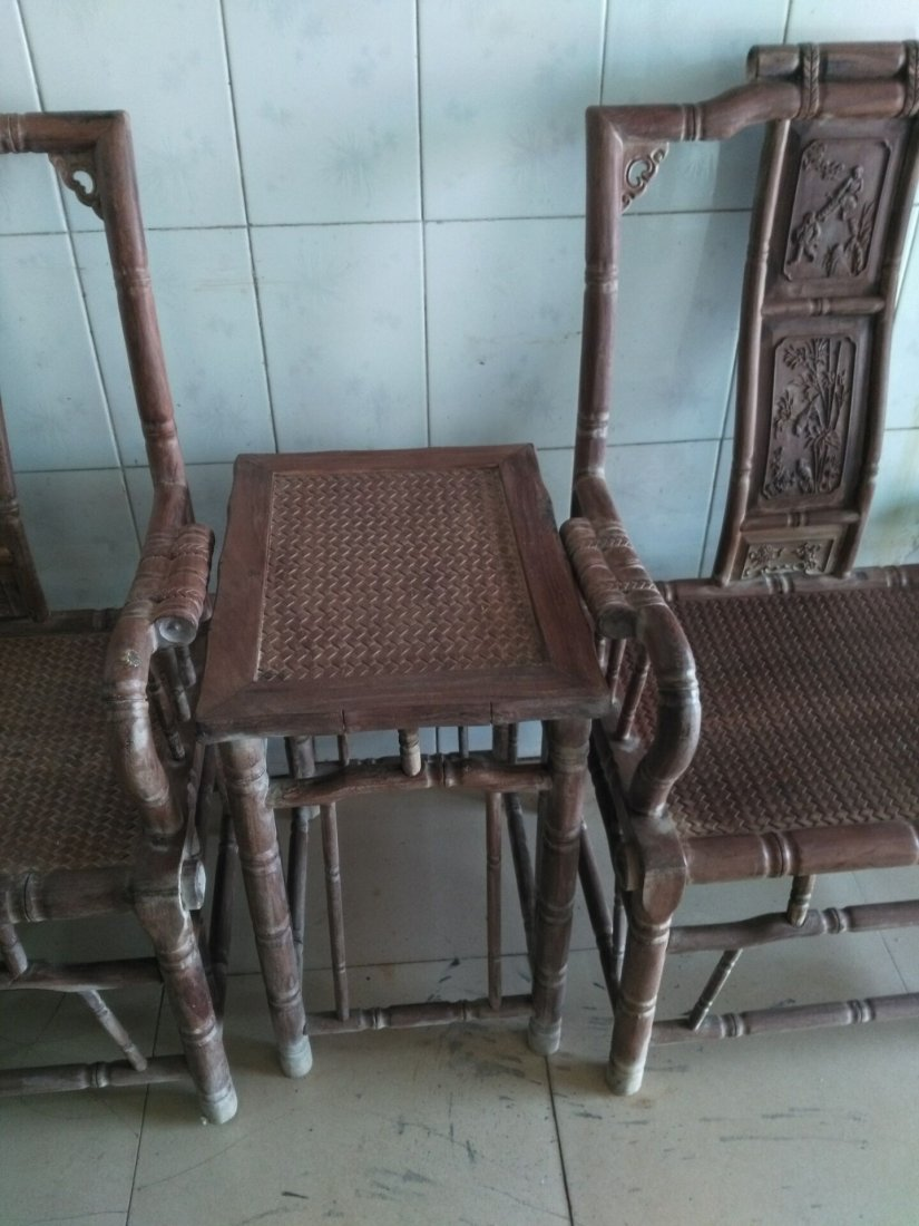 huanghuali Superb carving Bamboo festival Taishi chair - 5