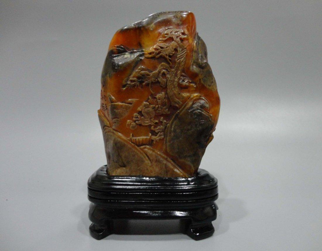 Shoushan Stone Crow Paper Decoration