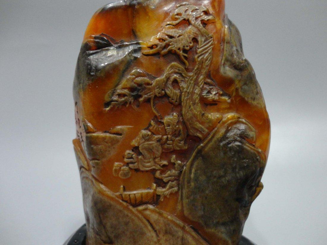 Shoushan Stone Crow Paper Decoration - 2