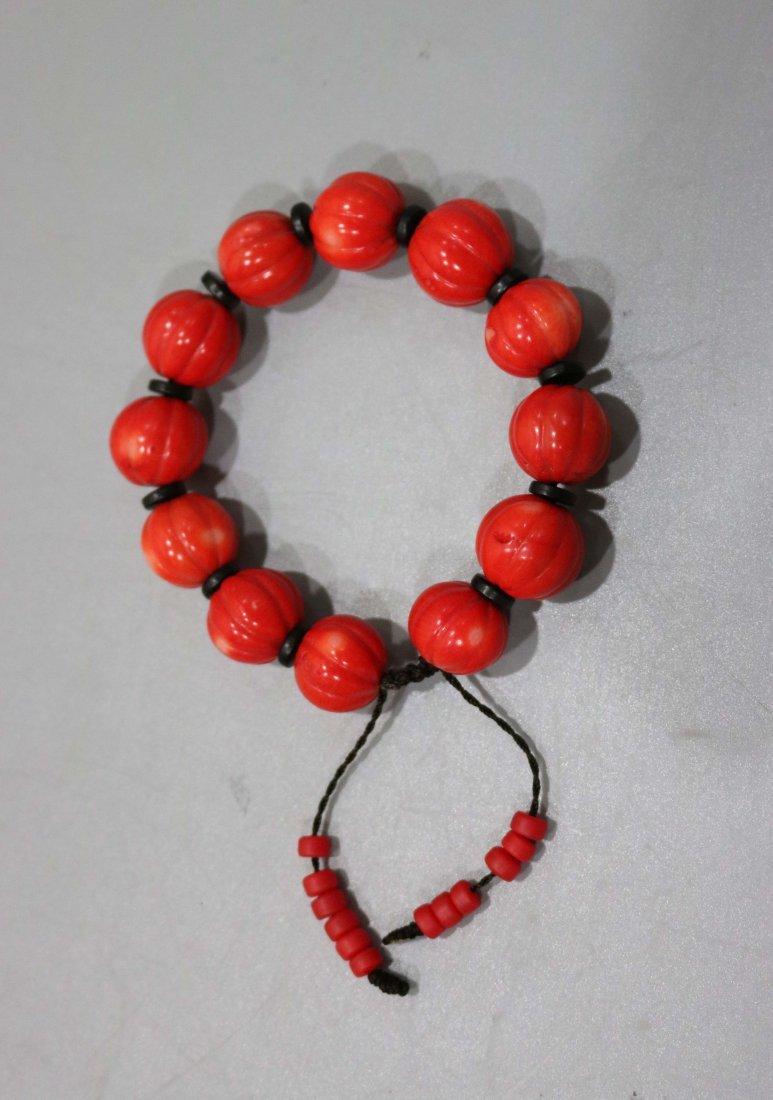 Red coral bracelet - 2