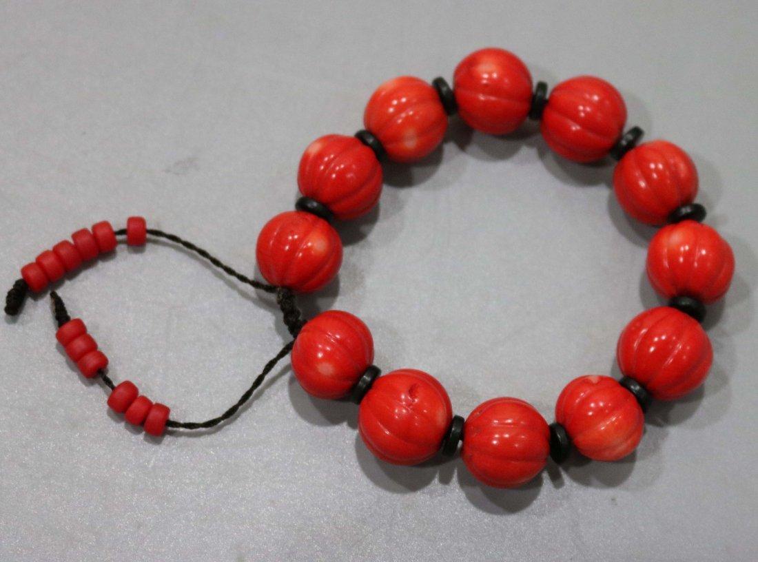 Red coral bracelet - 3