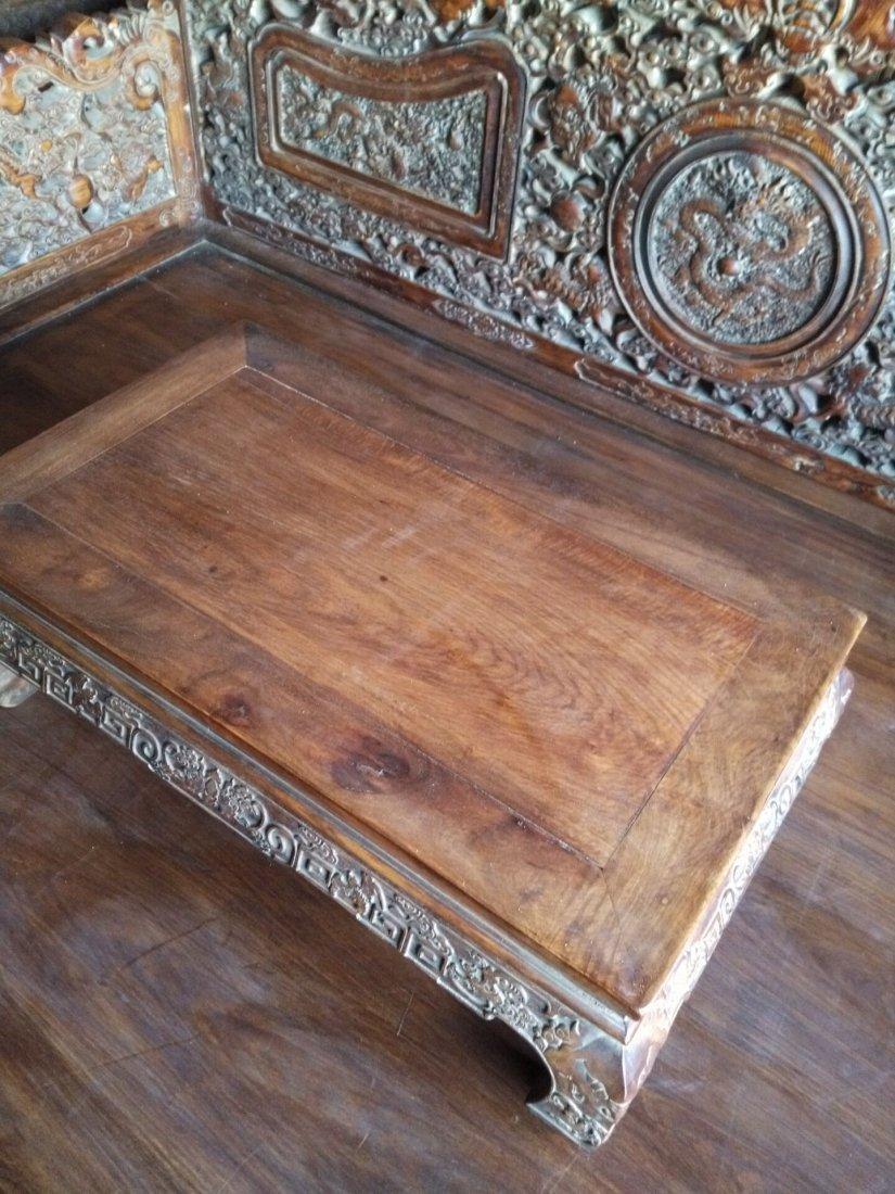China  huanghuali hand carved Lion big bed - 4