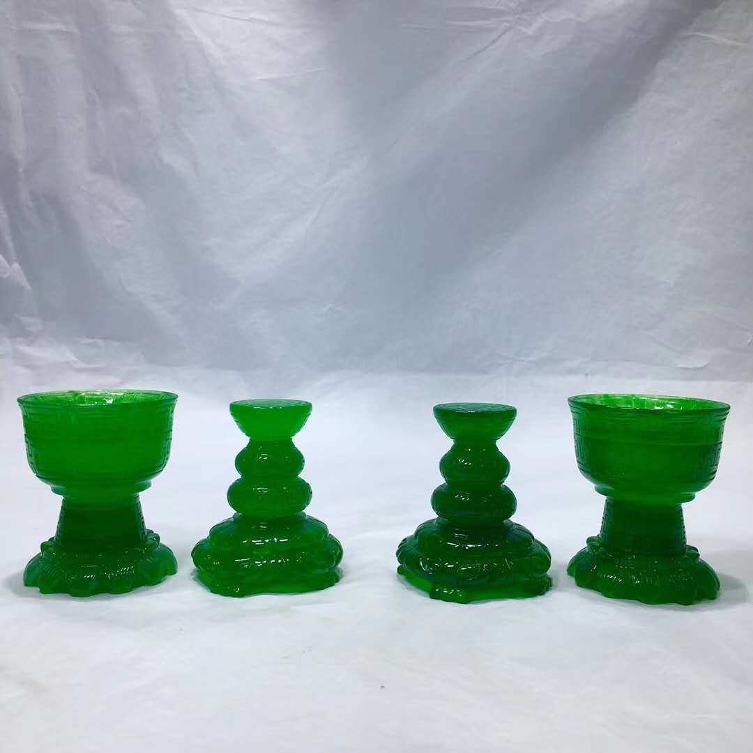 Emerald Jade carving Wax table - 2