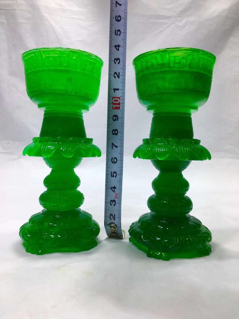 Emerald Jade carving Wax table - 4