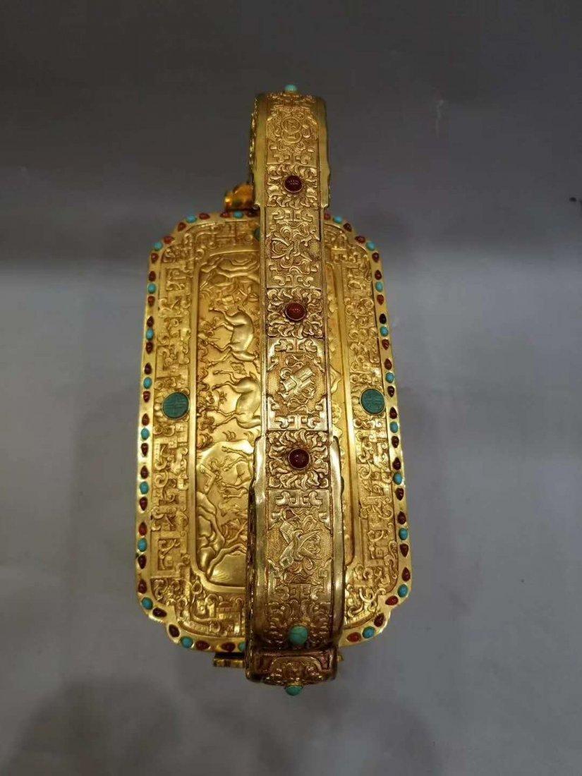 Qing Copper gilt Food box - 7
