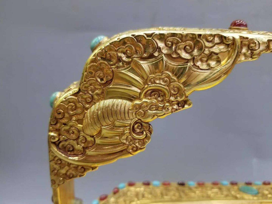 Qing Copper gilt Food box - 8