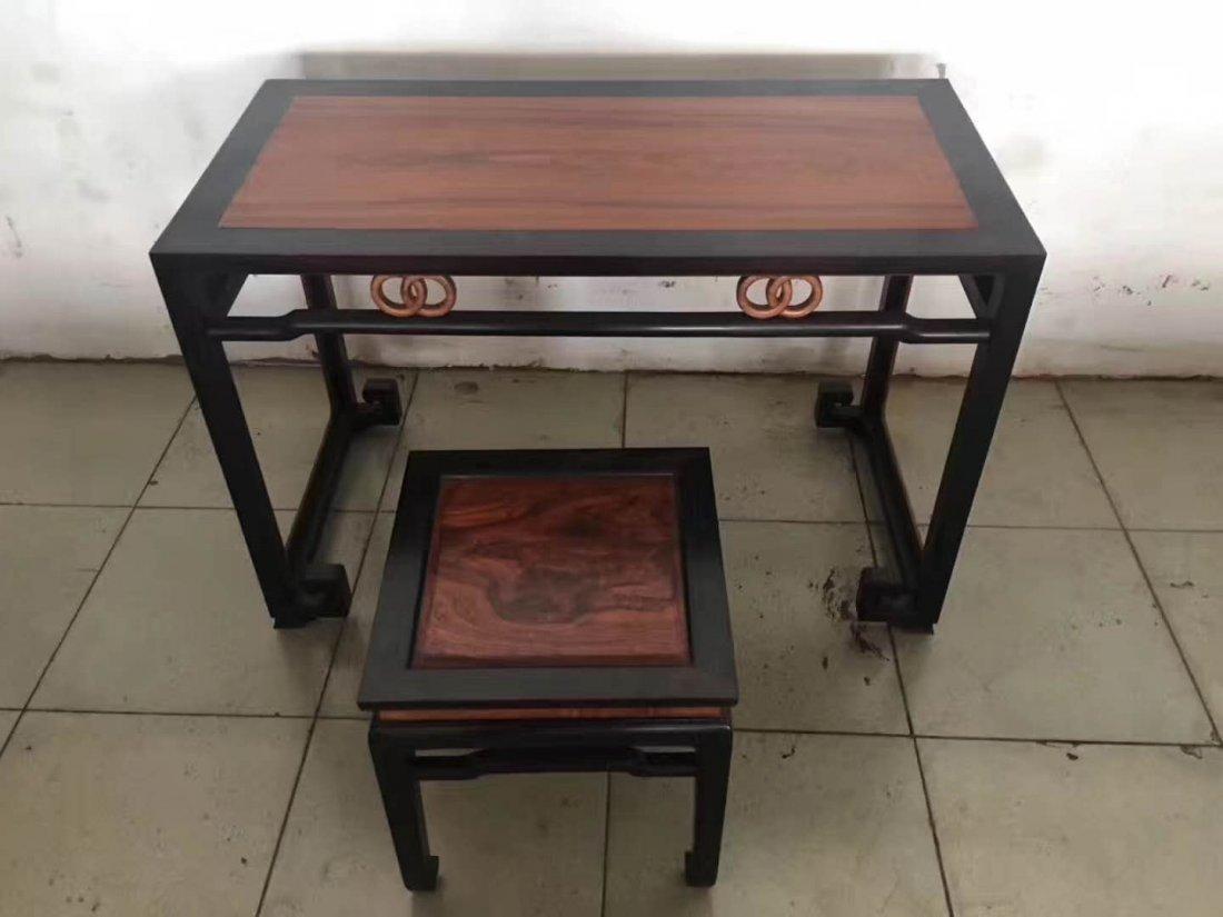Lobular rosewood huanghuali Piano table - 2