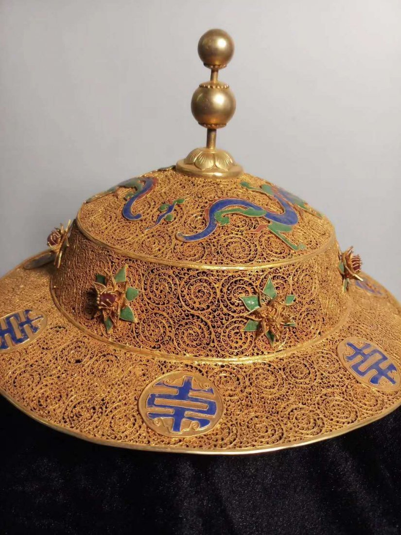 Silver gilt Dragon crown hat - 2